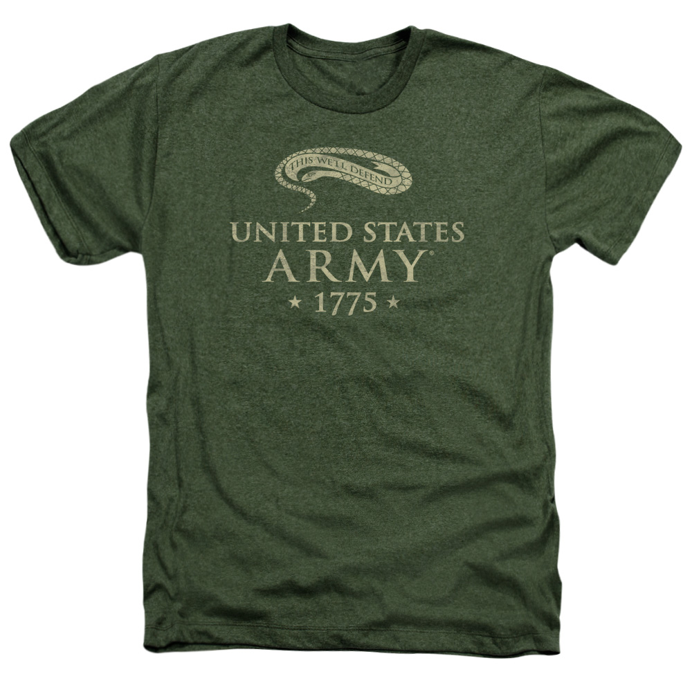 This We Will Defend United States U.S. Army EST. 1775 Heather T-Shirt