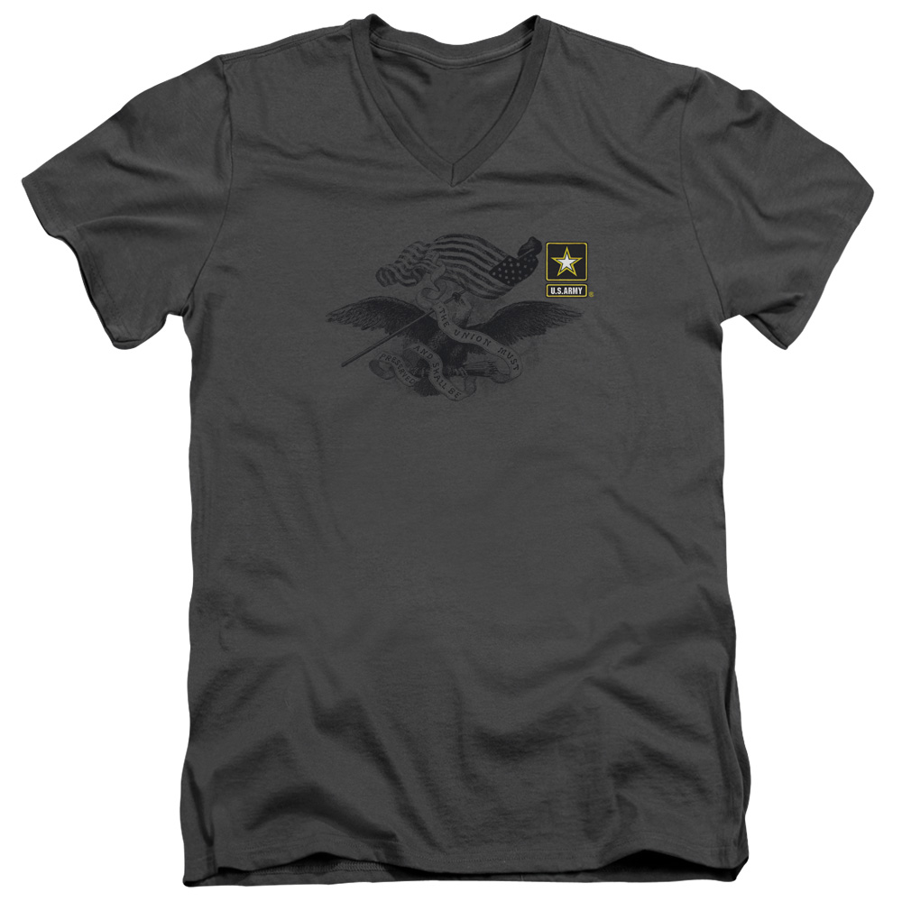 U.S. Army Left Chest Eagle Logo V-Neck T-Shirt