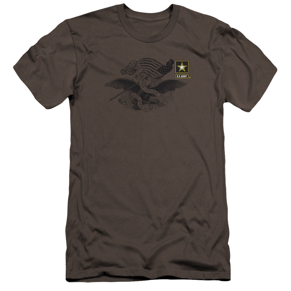 U.S. Army Left Chest Eagle Logo Premium Slim Fit T-Shirt