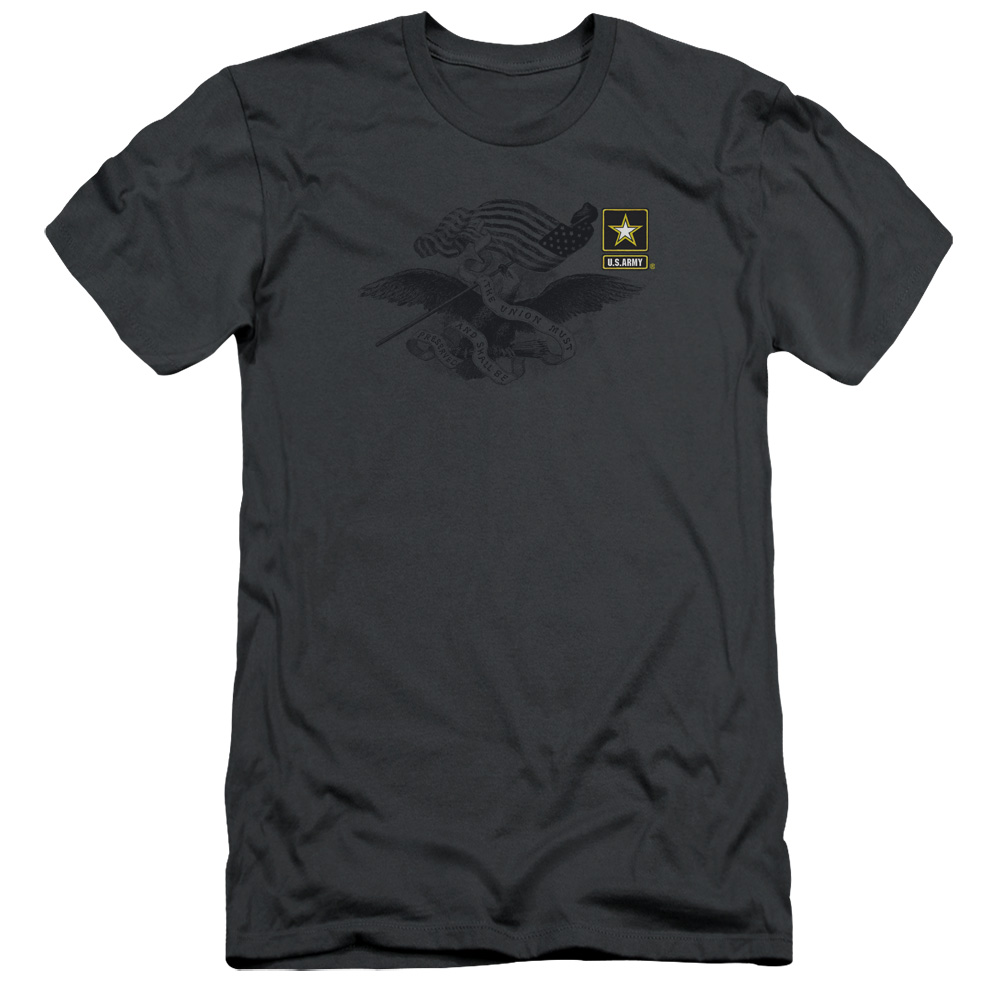 U.S. Army Left Chest Eagle Logo Slim Fit T-Shirt