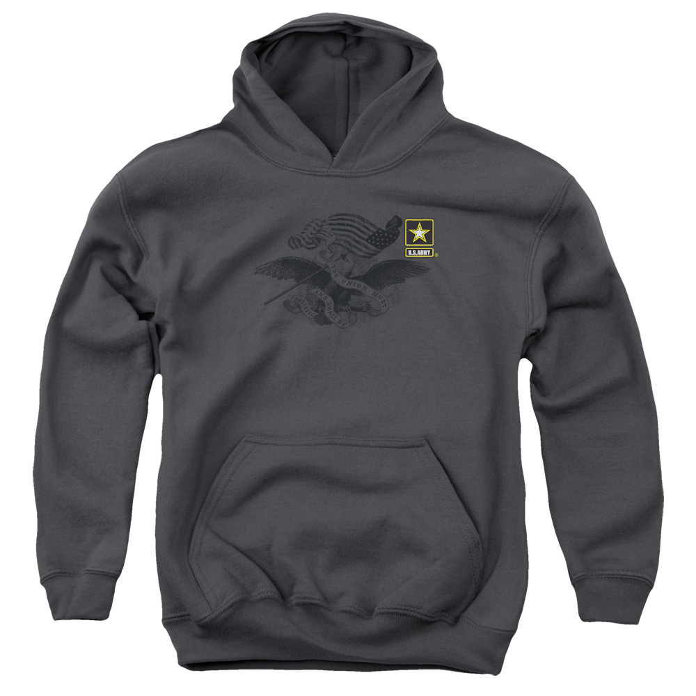 U.S. Army Left Chest Eagle Logo Kids Hoodie
