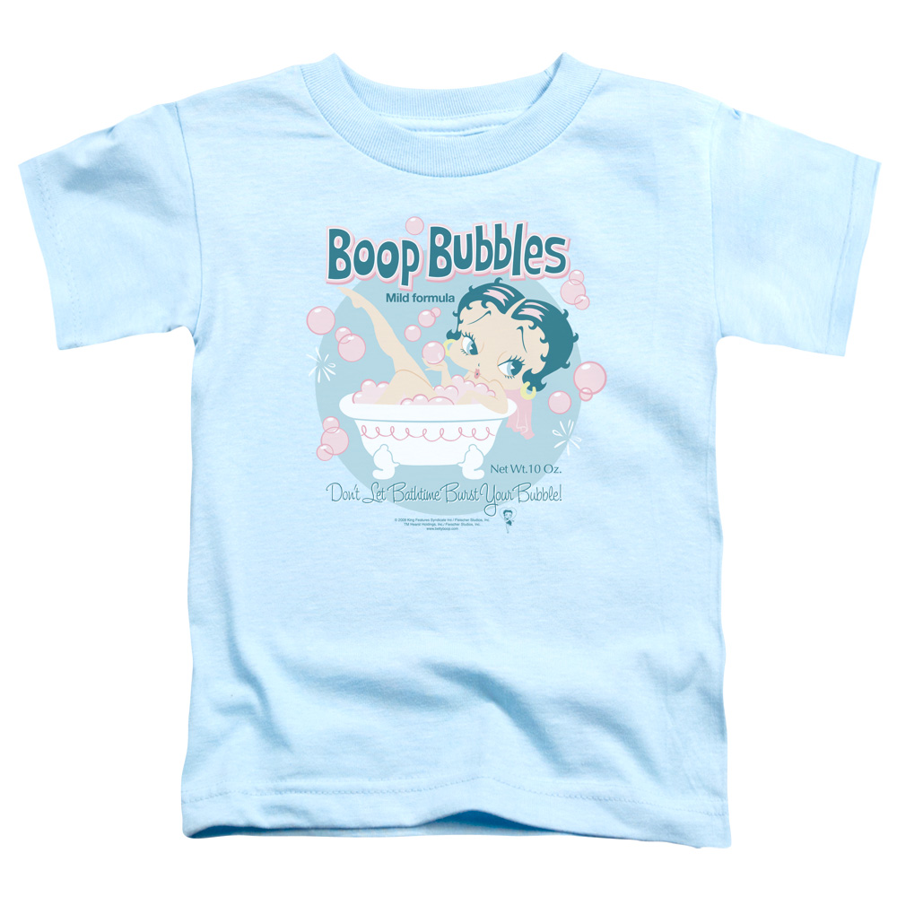 Betty Boop Bubbles Don't Let Bathtime Burst Your Bubble Toddler T-Shirt
