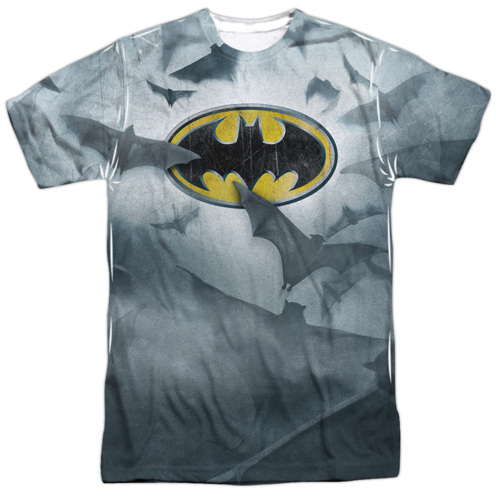 a75b4311b565b Batman Shadow Bats Logo Big Print Sublimation DC Comics Licensed Adult T  Shirt