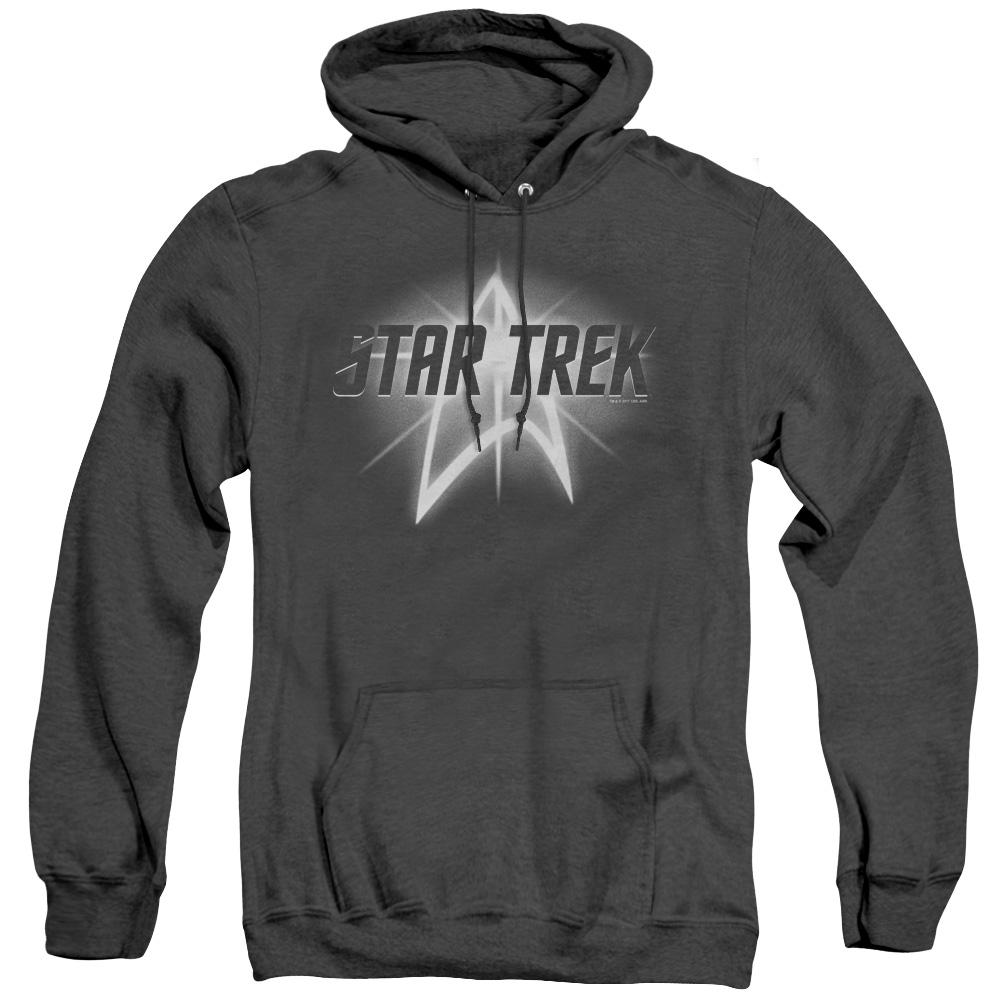 Star Trek Glowing Up Emblem Adult Heather Hoodie