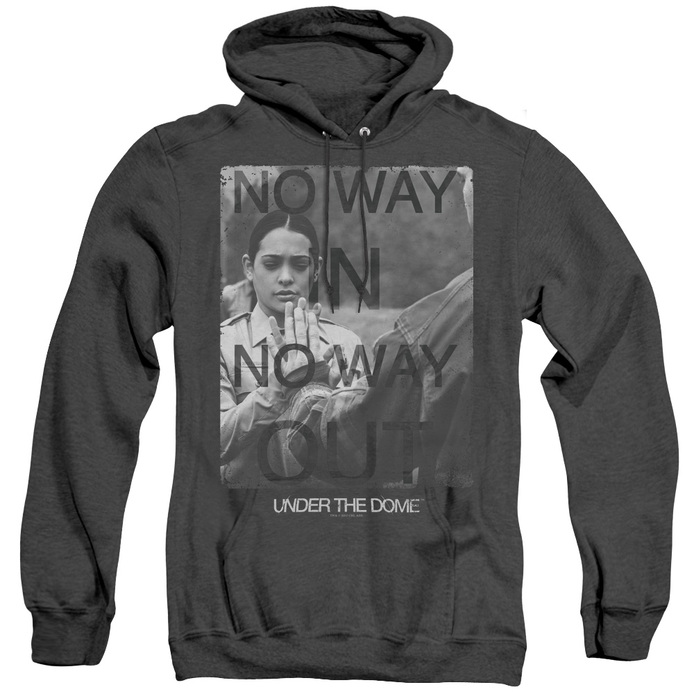 Trapped Under The Dome No Way In Or Out Adult Heather Hoodie
