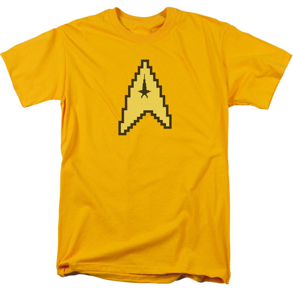 402d01906 Star Trek 8 Bit Command Symbol Licensed Adult T Shirt | eBay