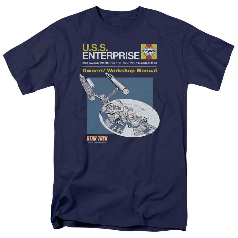 Star Trek Enterprise Workshop Manual T-Shirt