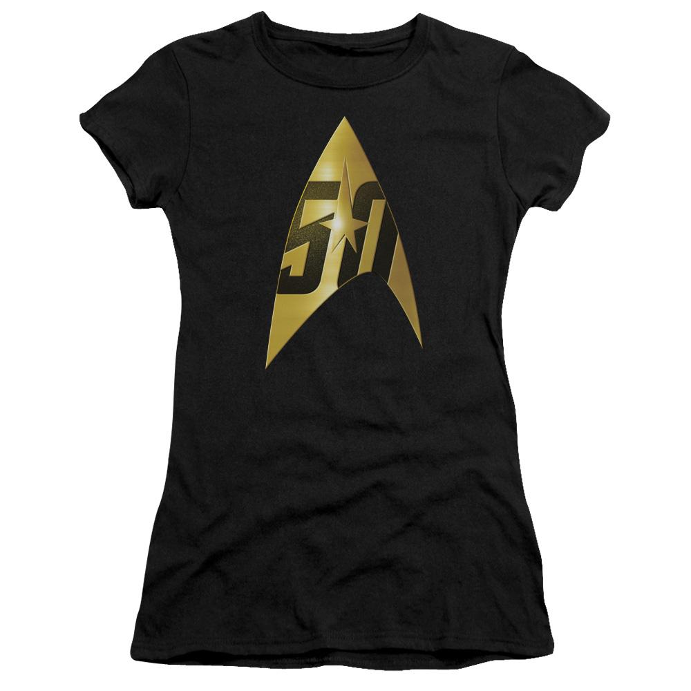 50th Anniversary Delta Star Trek Junior Fit T Shirt