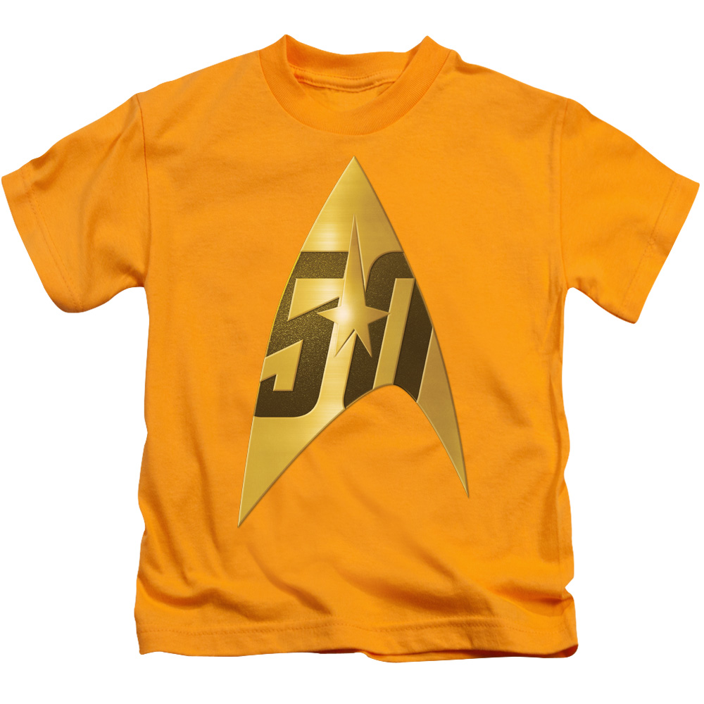 Star Trek 50th Anniversary Delta Gold Juvy T-Shirt