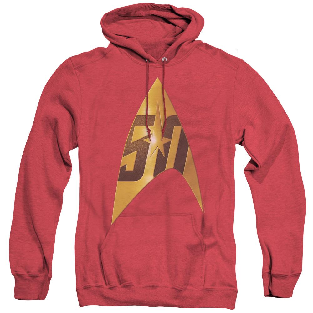 Star Trek 50th Anniversary Delta Red Adult Heather Hoodie