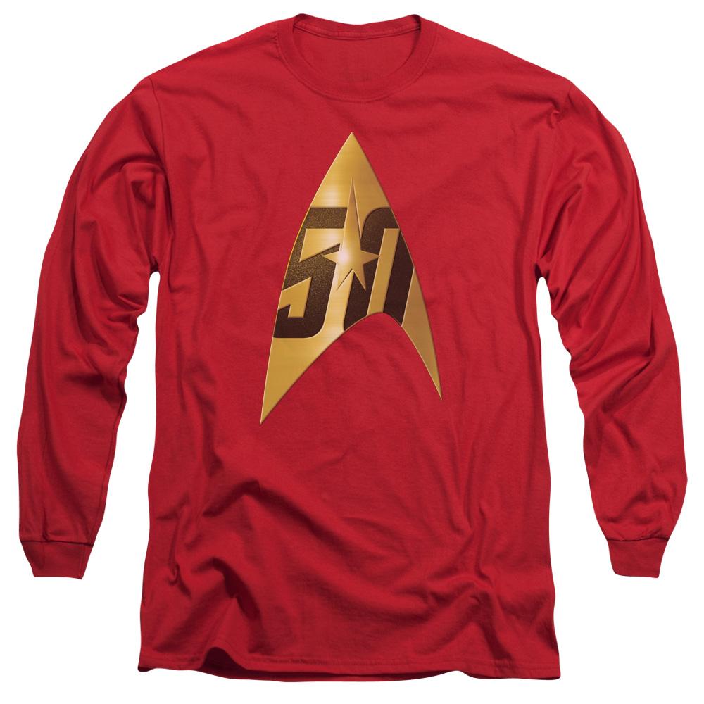 Star Trek 50th Anniversary Delta Red Long Sleeve Shirt