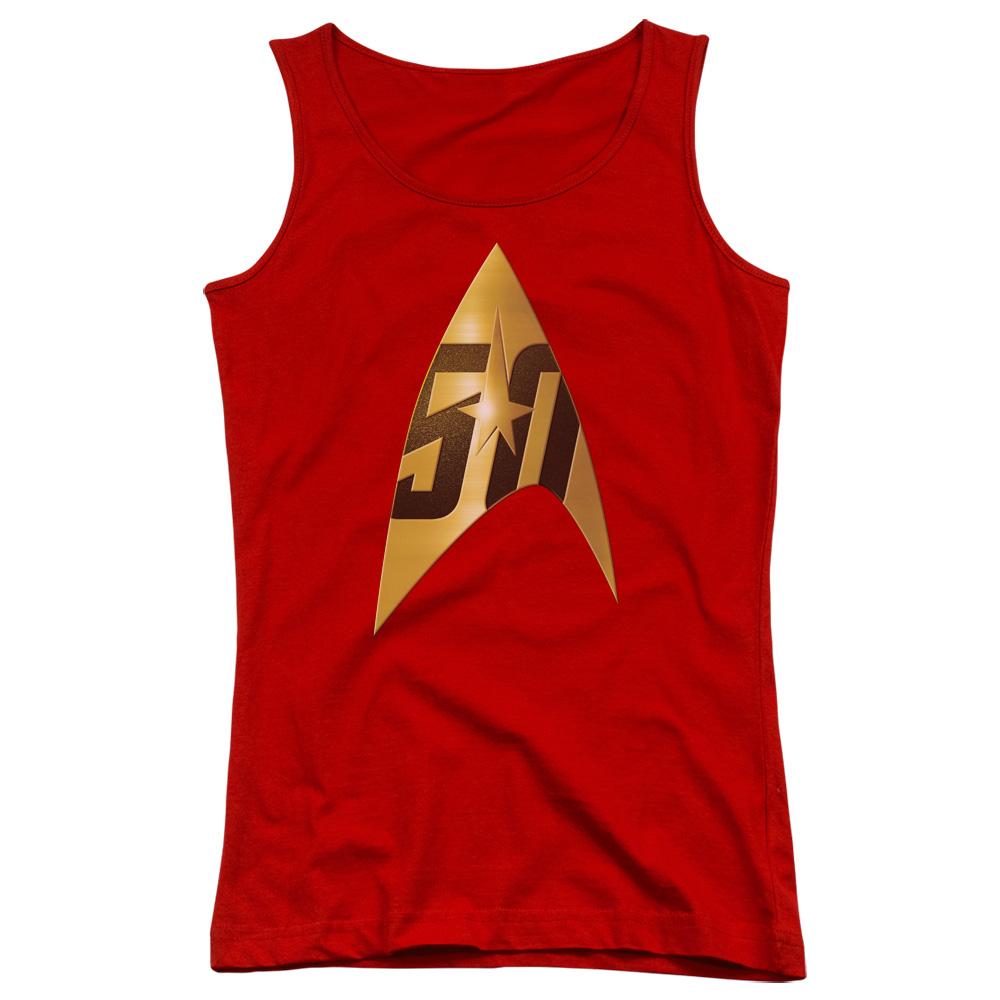 Star Trek 50th Anniversary Delta Red Juniors Tank Top