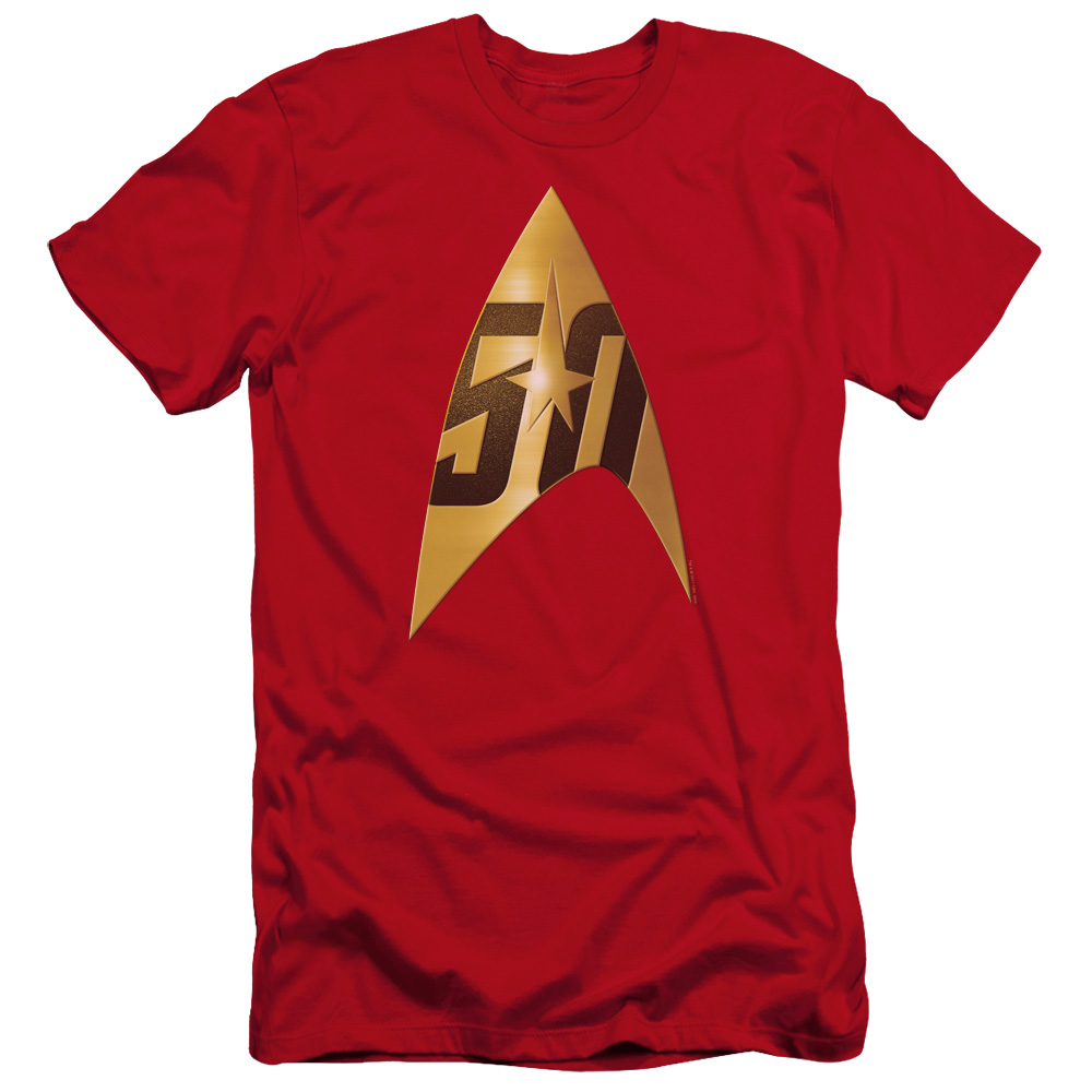 Star Trek 50th Anniversary Delta Red Premium Slim Fit T-Shirt