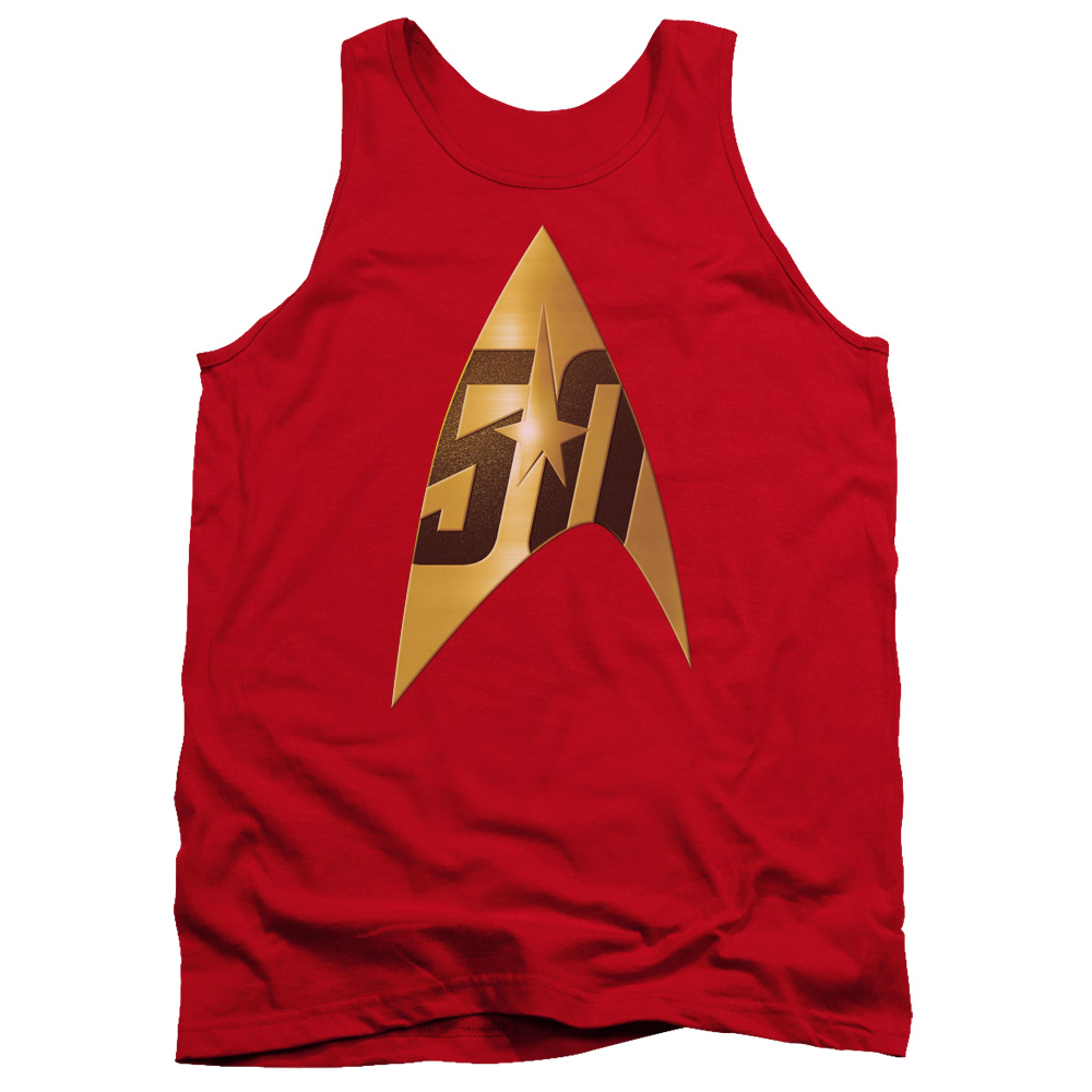 Star Trek 50th Anniversary Delta Red Tank Top
