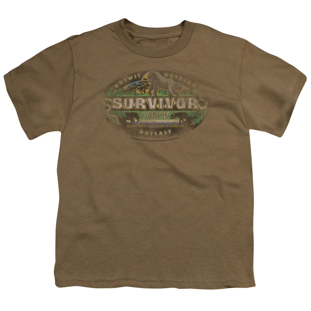 Survivor Gabon Distressed Kids T-Shirt