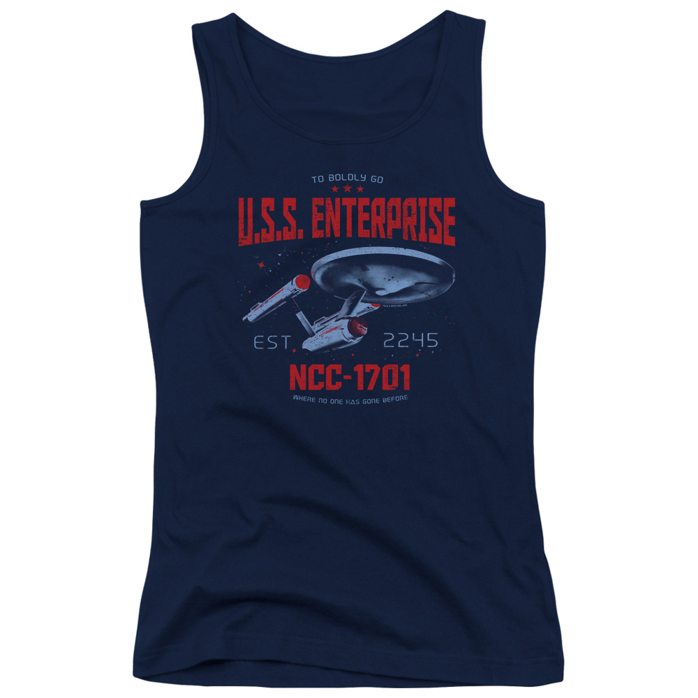 Star Trek Stardate 2245 Juniors Tank Top