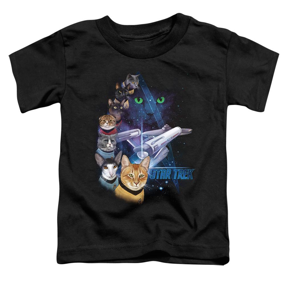 Star Trek Cats Feline Galaxy Toddler T-Shirt