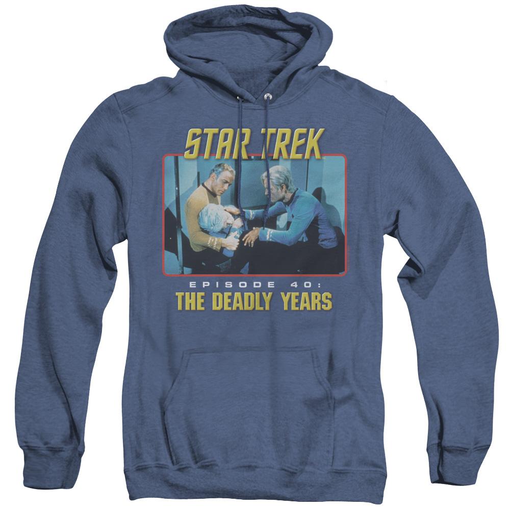 Star Trek The Deady Years Episode 40 Adult Heather Hoodie