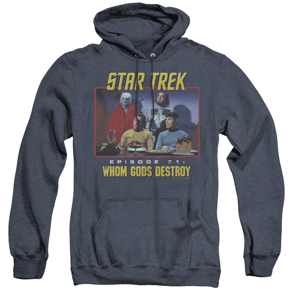 Star Trek Episode 71 Whom Gods Destroy Adult Heather Hoodie