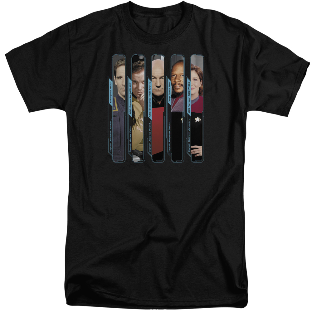 The Captains Star Trek  Tall T-Shirt