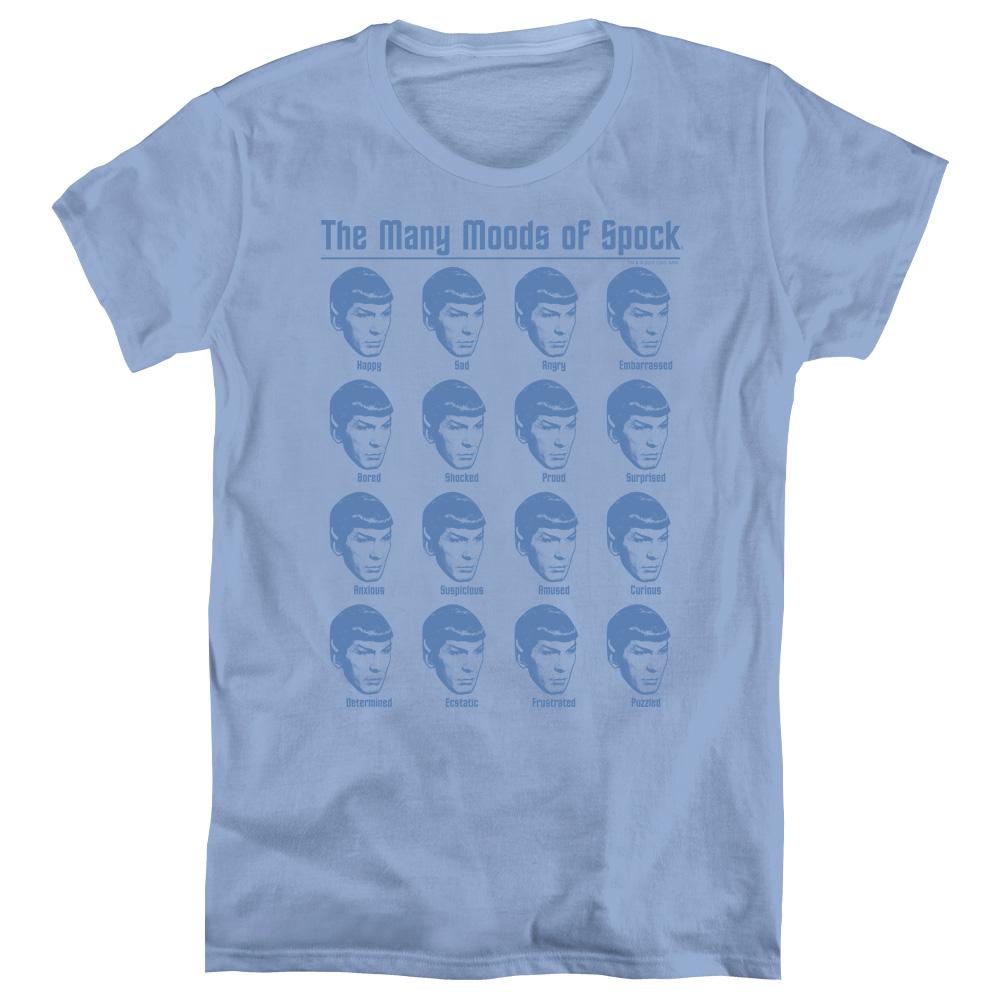 Star Trek Many Moods Of Spock Women's T-Shirt