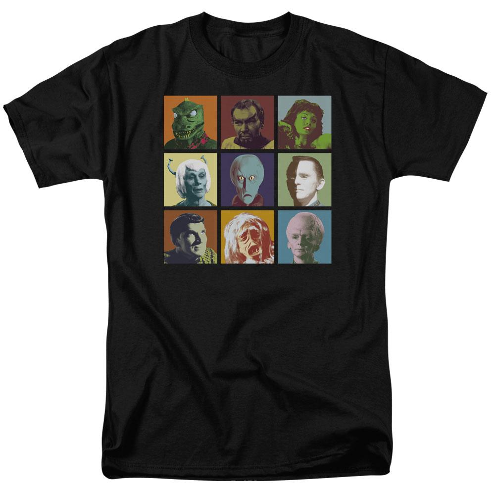 Star Trek Original Series ALIENS IN SQUARES Adult Long Sleeve T-Shirt S-3XL