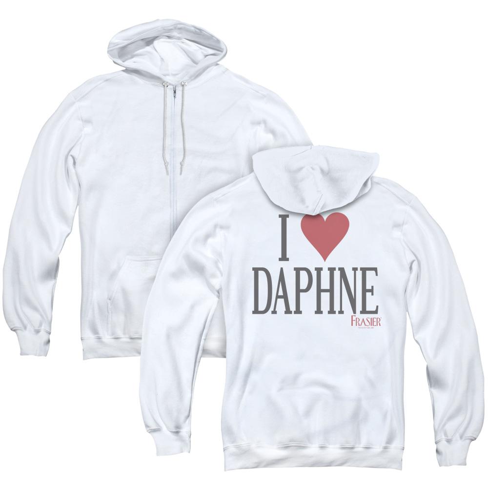 I Heart Daphne Frasier Adult Zip Hoodie