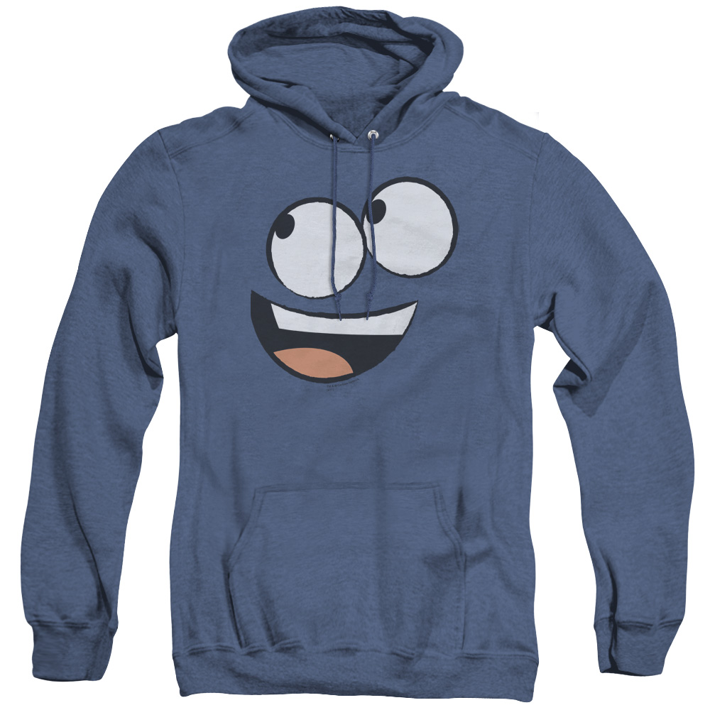 Foster's Home For Imaginary Friends Big Blue Face Smiling Adult Heather Hoodie