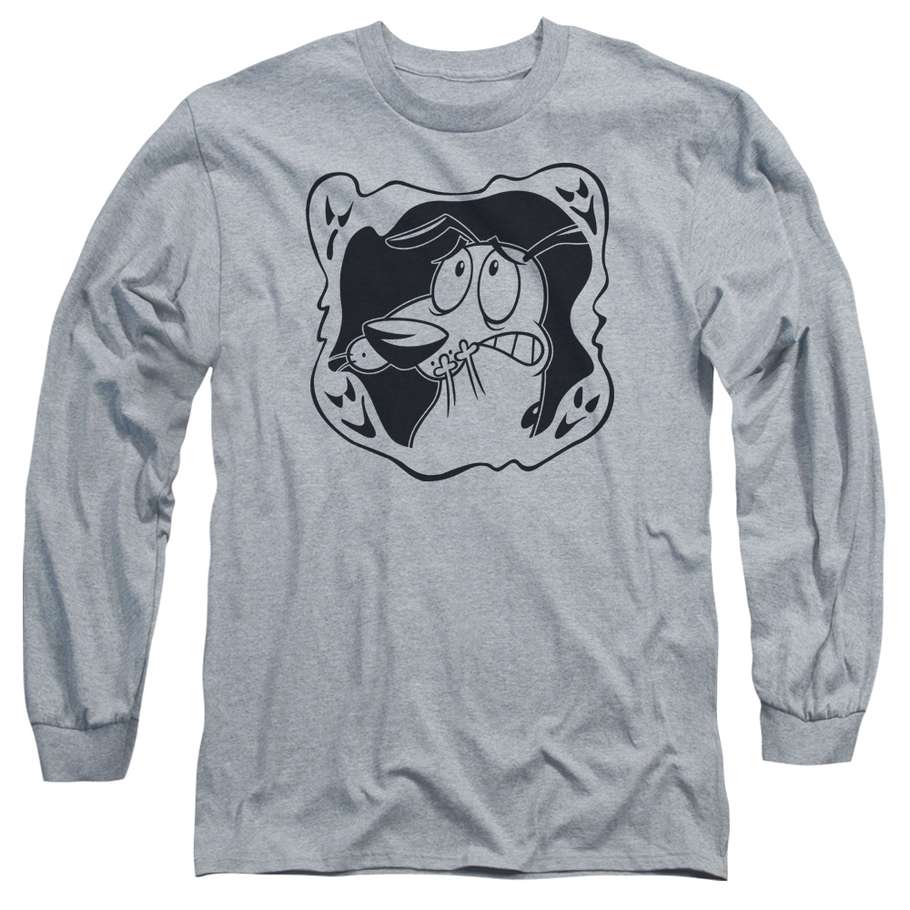 Courage the Cowardly Dog Ghost Frame Long Sleeve Shirt