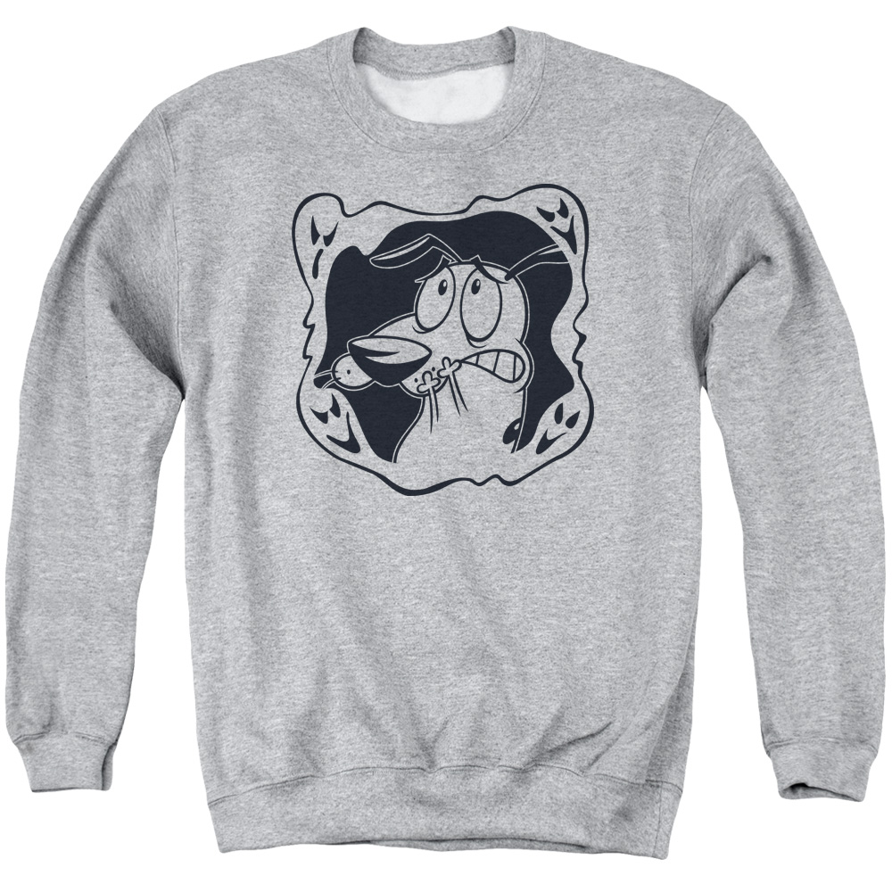 Courage the Cowardly Dog Ghost Frame Sweater