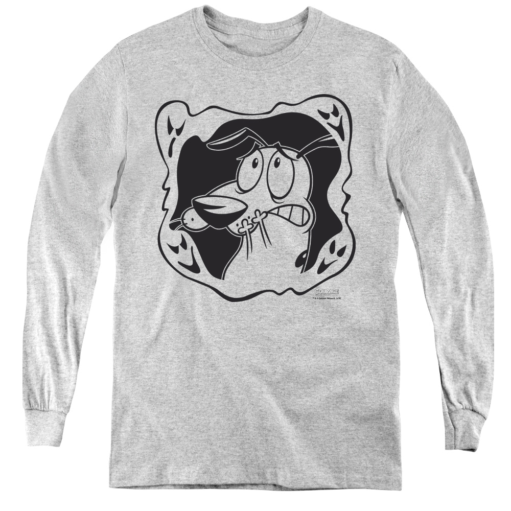 Courage the Cowardly Dog Ghost Frame Kids Long Sleeve Shirt