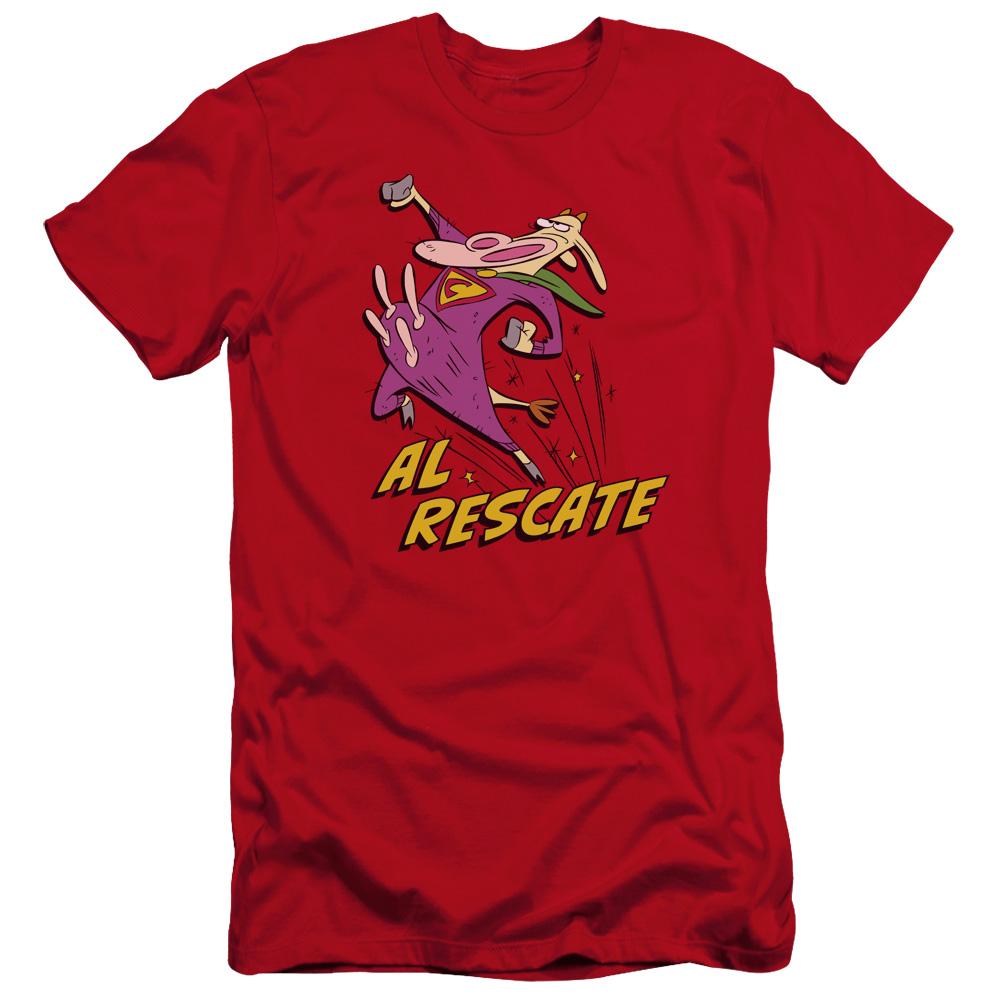 Cow and Chicken Al Rescate Premium Slim Fit T-Shirt