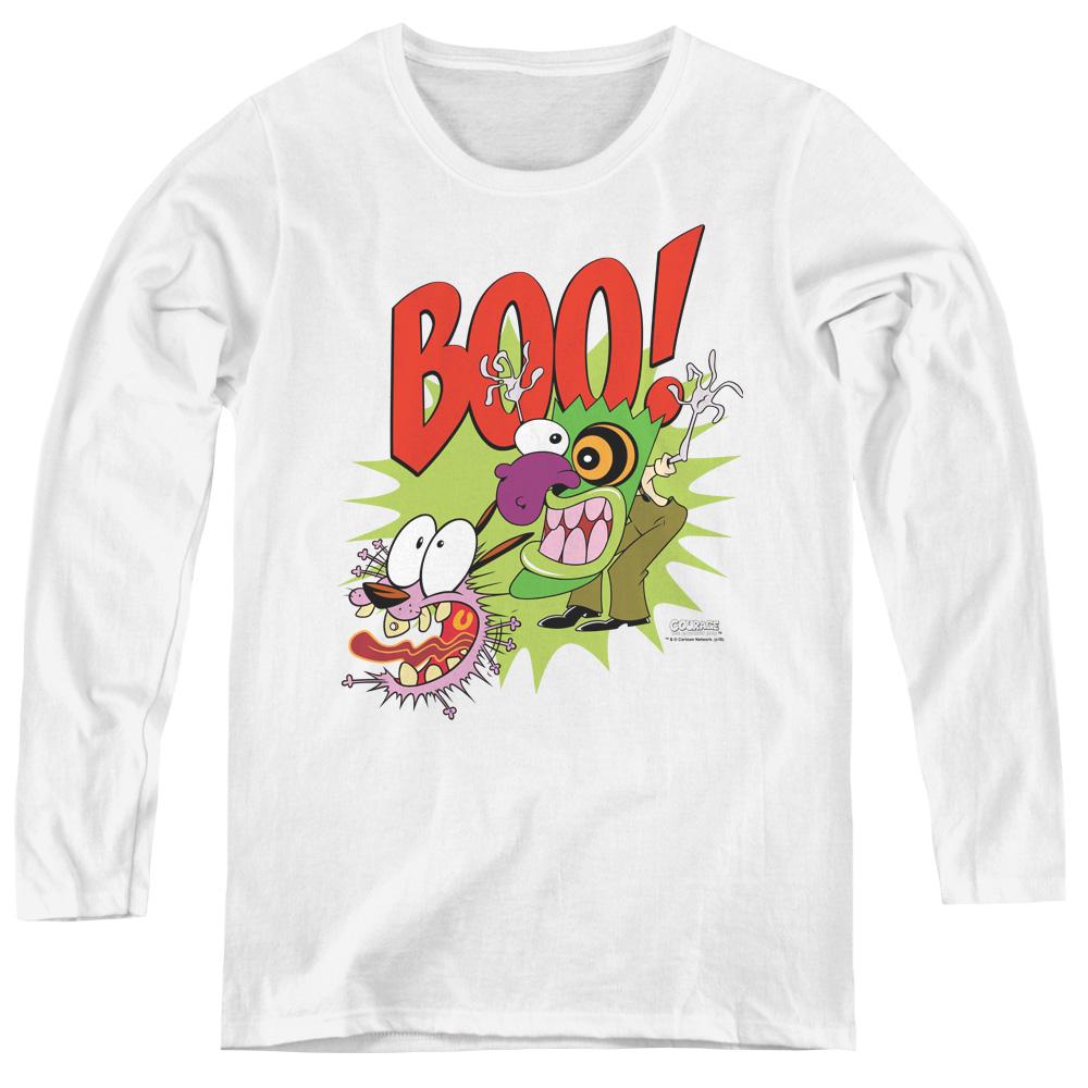 Courage the Cowardly Dog Boo! Stupid Dog Women's Long Sleeve Shirt