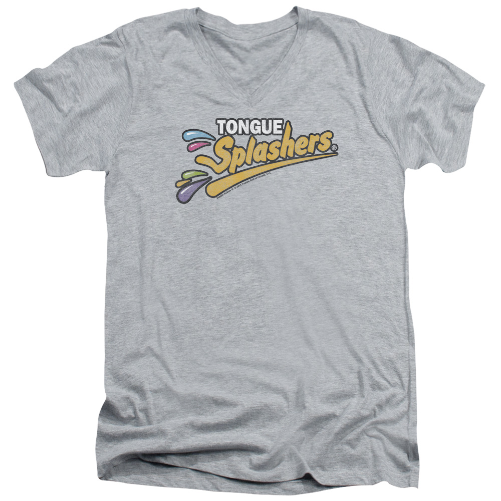 Dubble Bubble Tongue Splashers Logo V-Neck T-Shirt