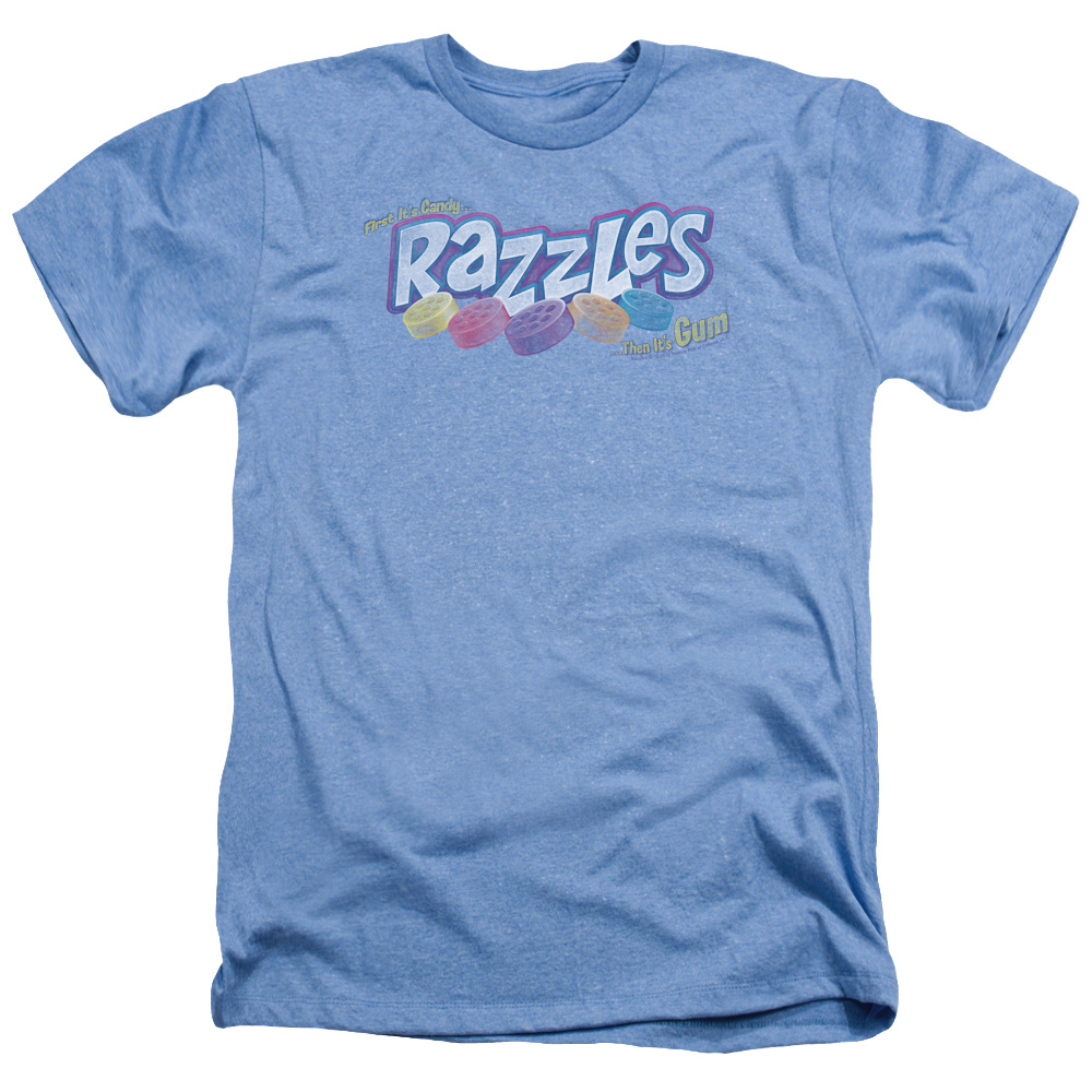 Distressed Dubble Bubble Razzles Logo Heather T-Shirt