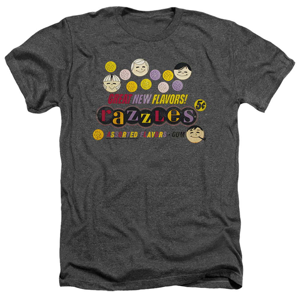 Dubble Bubble Razzles Retro Box Heather T-Shirt