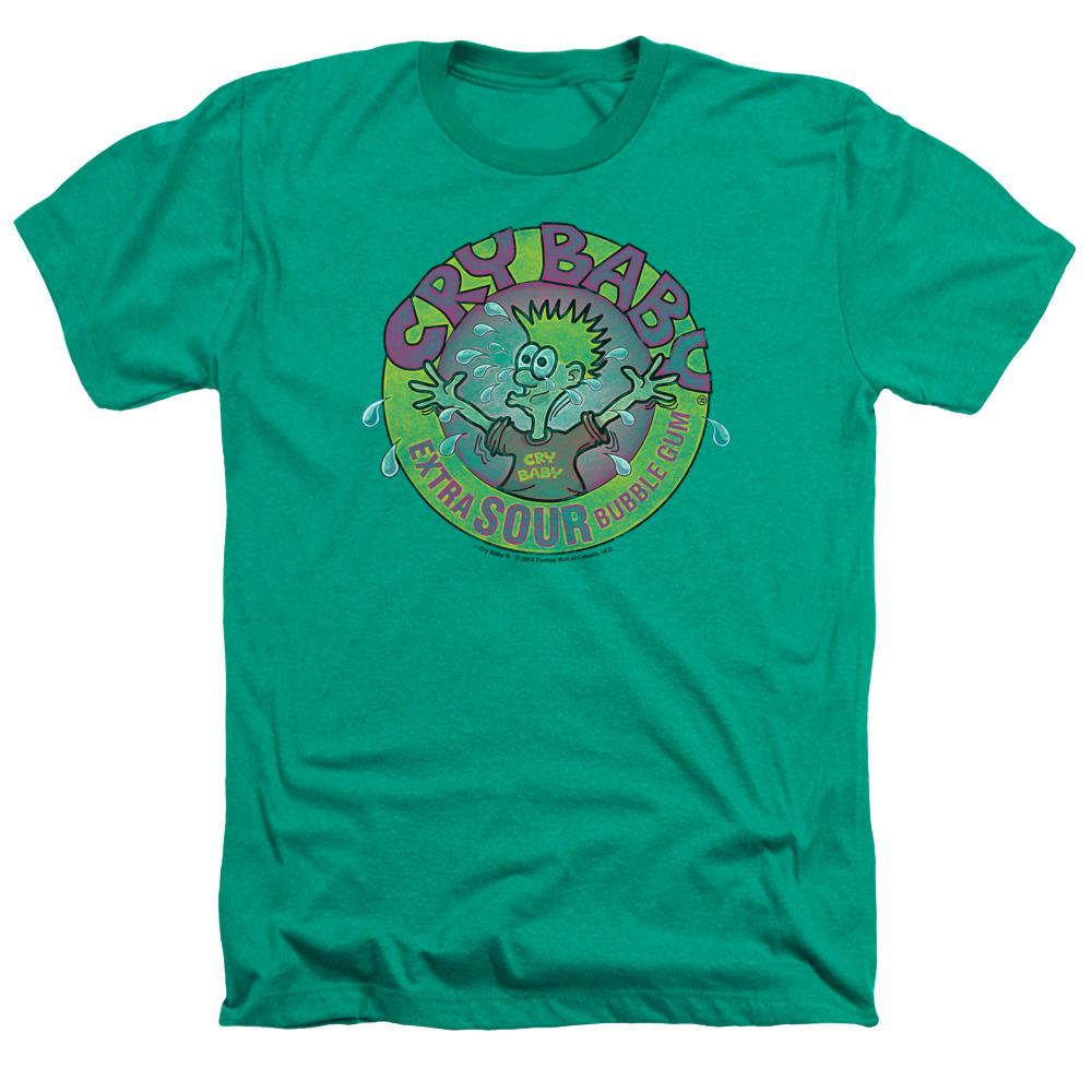 Dubble Bubble Cry Baby Logo Heather T-Shirt