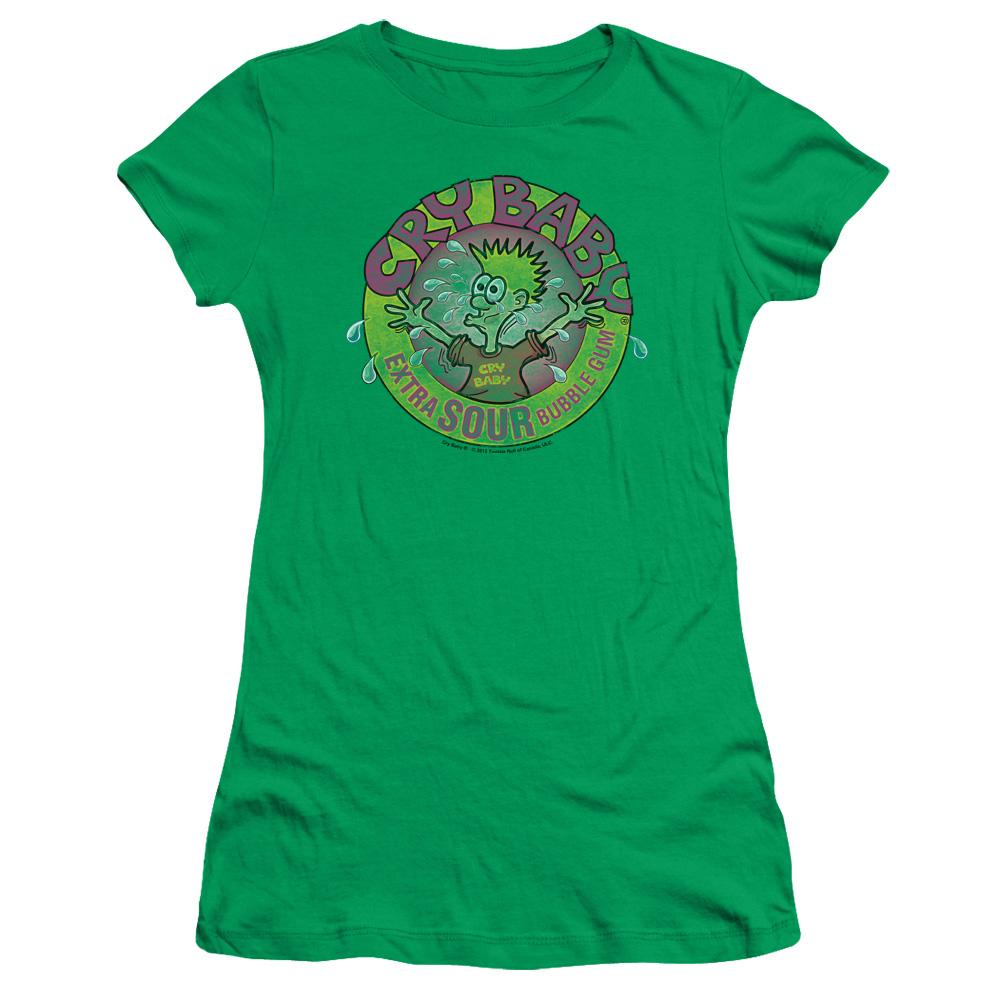 Dubble Bubble Cry Baby Logo Junior Fit T Shirt
