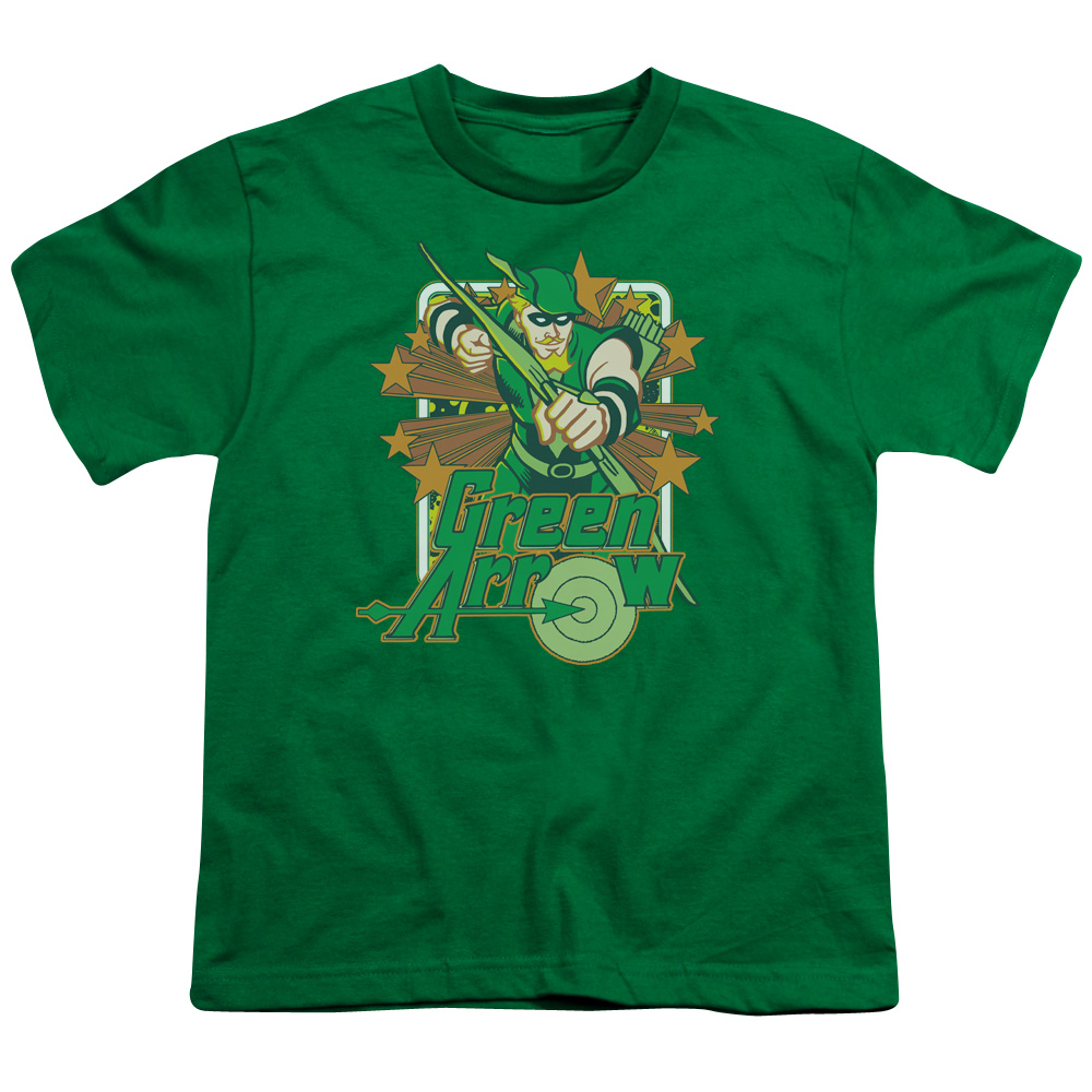 Green Arrow Stars Kids T-Shirt