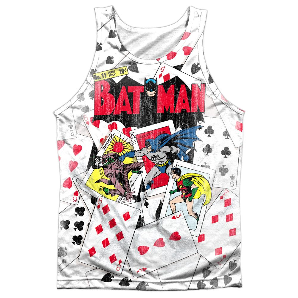 Batman Joker Graffiti Bat Symbol DC Comics Adult Tank Top