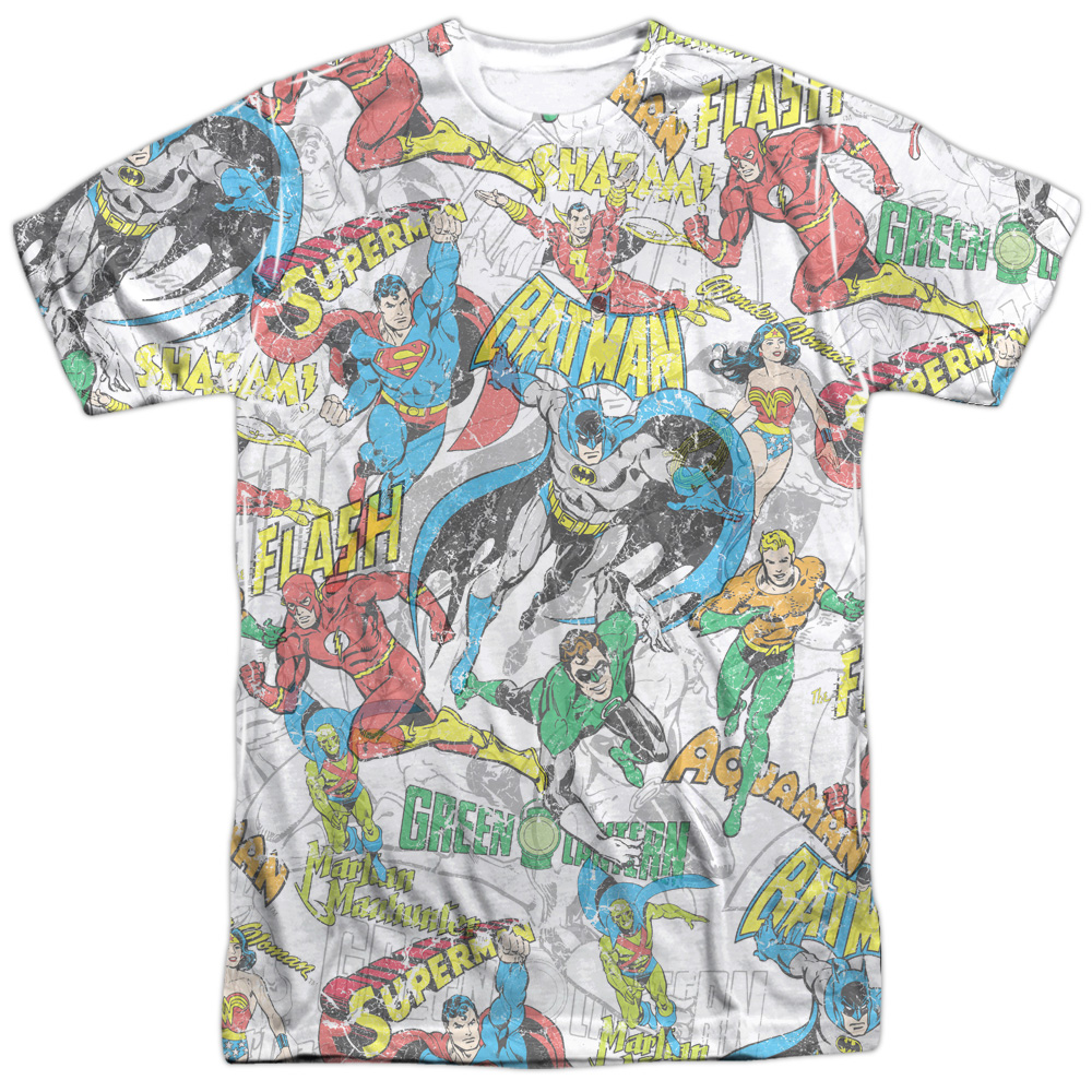 SUPERMAN Hero Action COLLAGE Licensed Adult Long Sleeve T-Shirt S-3XL