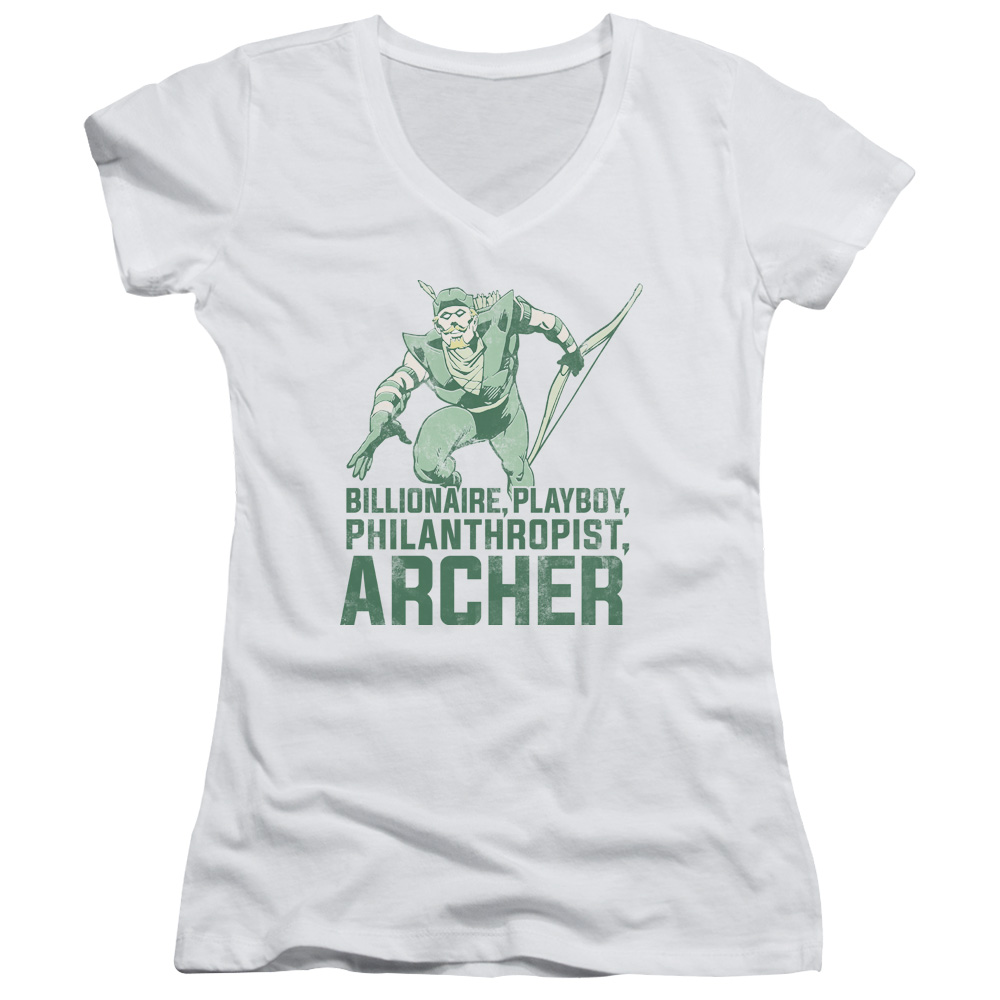 Green Arrow Archer  Juniors V-Neck T-Shirt