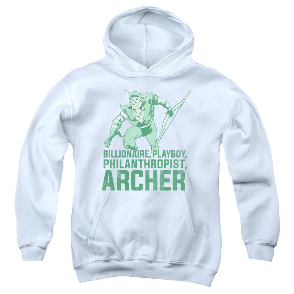 Green Arrow Archer  Kids Hoodie