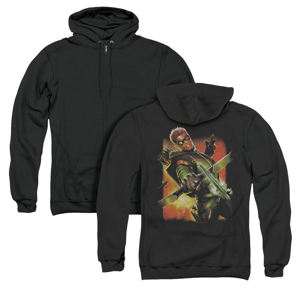 Green Arrow #1 Adult Zip Hoodie