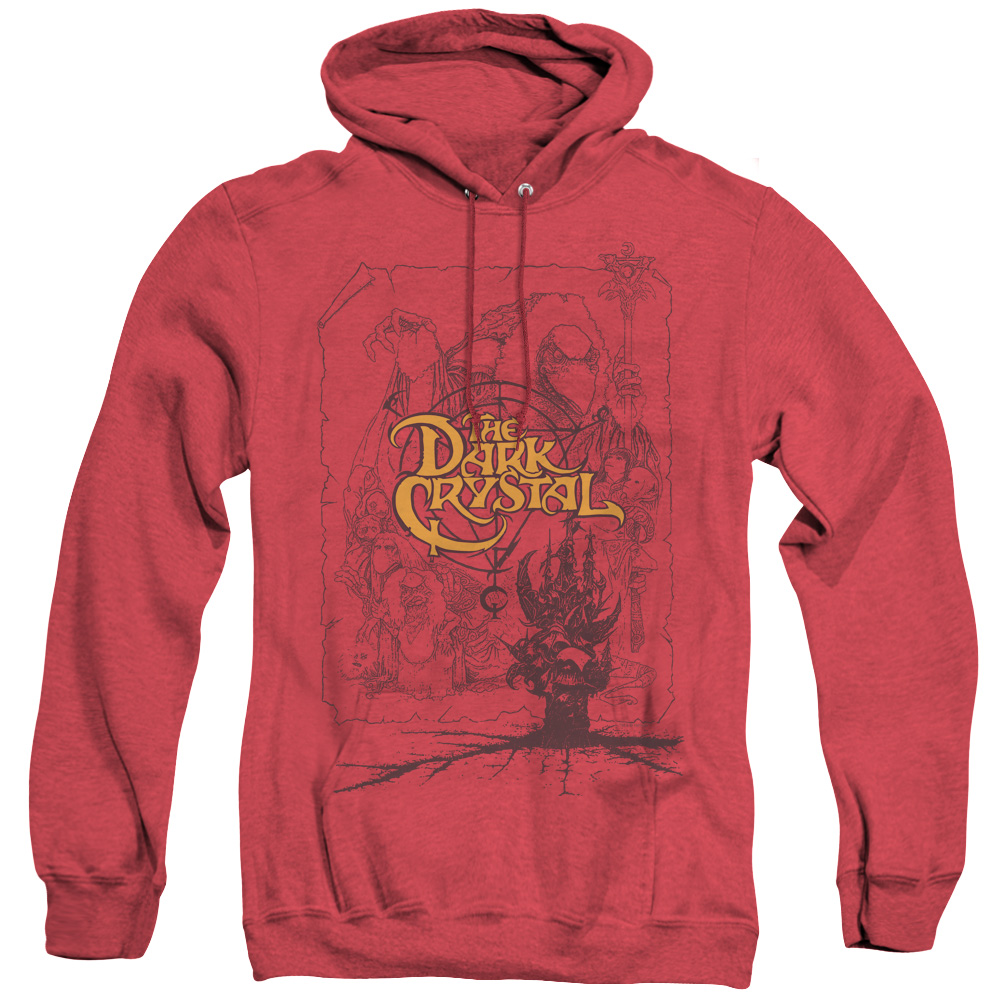 The Dark Crystal Poster Lines Adult Heather Hoodie