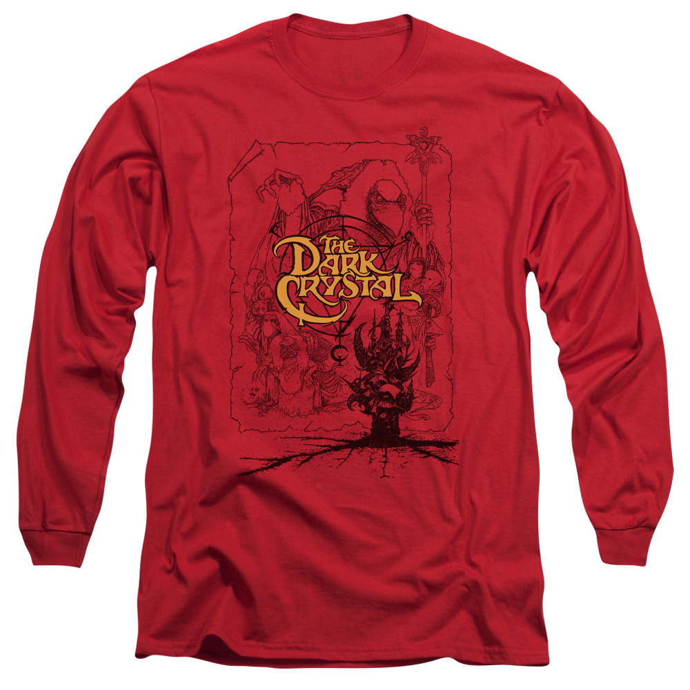 The Dark Crystal Poster Lines Long Sleeve Shirt