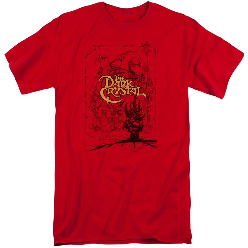 The Dark Crystal Poster Lines Tall T-Shirt