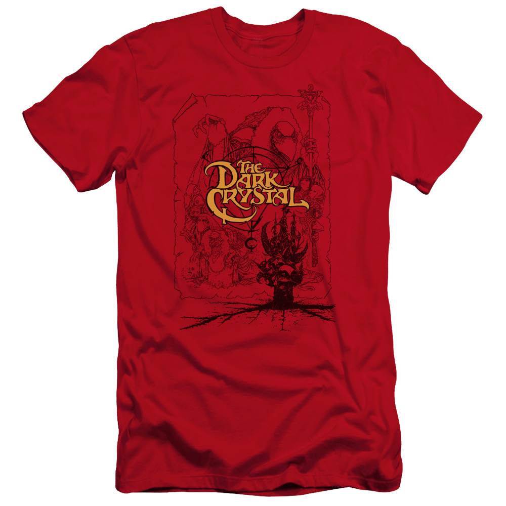 The Dark Crystal Poster Lines Premium Slim Fit T-Shirt
