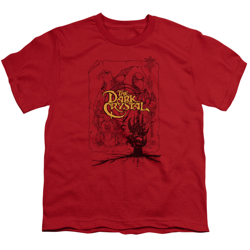 The Dark Crystal Poster Lines Kids T-Shirt