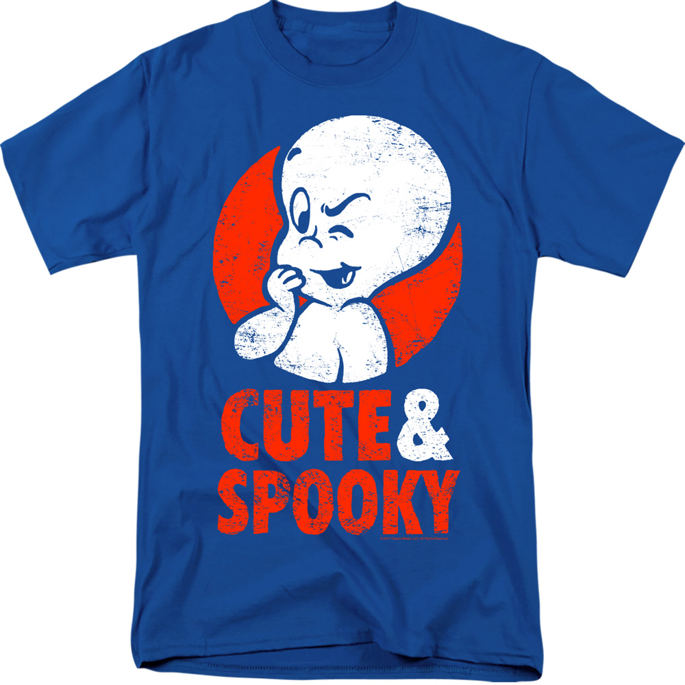 8879e3474 Casper The Friendly Ghost Cute And Spooky Licensed Adult T Shirt | eBay